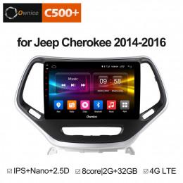 Штатная магнитола Carmedia OL-1253-MTK  Jeep Cherokee (2014+)