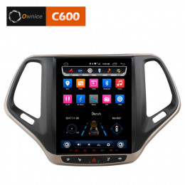 Штатная магнитола Carmedia OL-9256-9-MTK  Jeep Cherokee (2014+) Tesla-style
