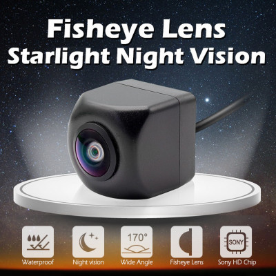 Камера заднего вида Dinaudio Fish Eye HD 1280x720px (Наличие СПБ, МСК)